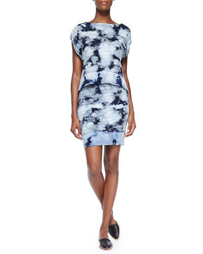Tie-Dye Muscle Tee & High-Low Hem Skirt