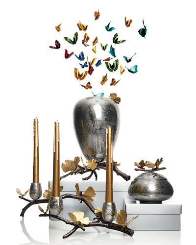 Michael Aram Butterfly Gingko Centerpiece, Vase, and Keepsake Box