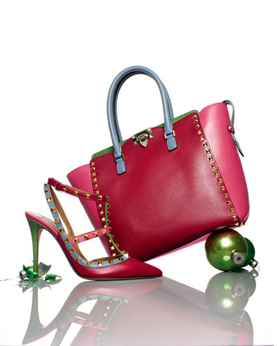 Valentino Rockstud Slingback Sandal & Shopper Bag