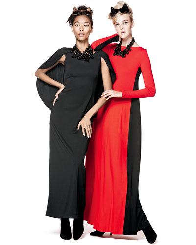 Melissa Masse Melissa Masse Long Jersey & Rachel Pally Two-Tone Dresses