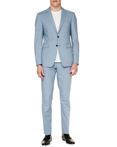 Modern-Fit Cotton Jacket & Trousers