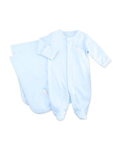 Baby Rockers Footie & Blanket, Blue