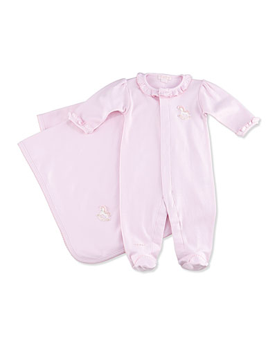 Baby Rockers Footie & Blanket, Pink