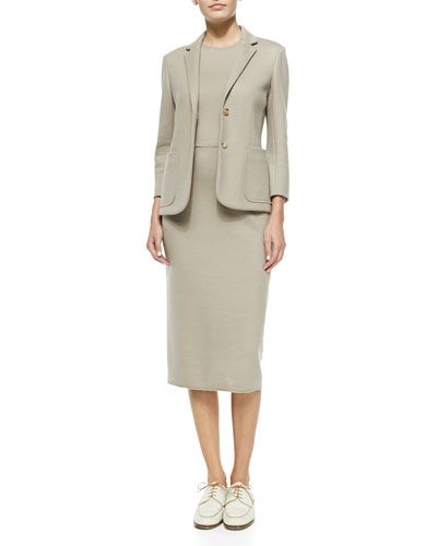 THE ROW Stretch-Wool Fitted Blazer & Sleeveless Wool Fitted Dress