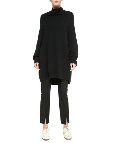 THE ROW Oversize Cashmere/Silk Turtleneck Sweater & Stretch-Cotton Slit-Cuff Leggings
