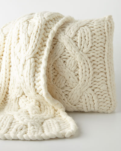 Knit Throw & Pillow