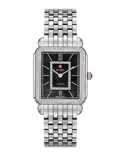 MICHELE Deco II Diamond Dial Watch Head & 7-Link Bracelet