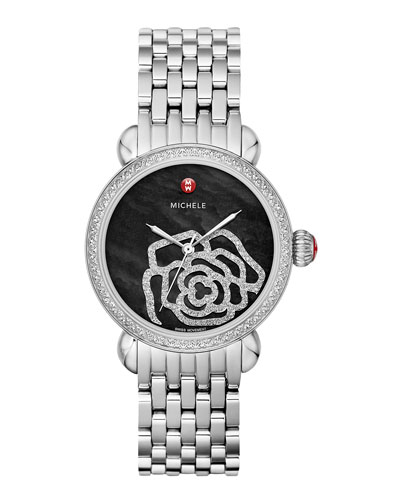 MICHELE CSX Jardin Diamond-Dial Watch Head & 18mm CSX Bracelet Strap