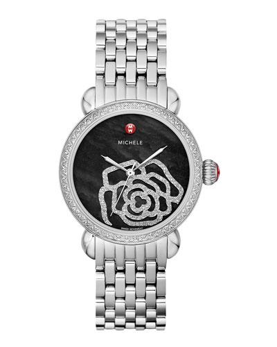 MICHELE CSX Jardin Diamond-Dial Watch Head & 18mm CSX Bracelet Strap