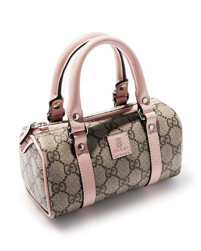 Gucci Girls' Leather-Trim GG Plus Bags