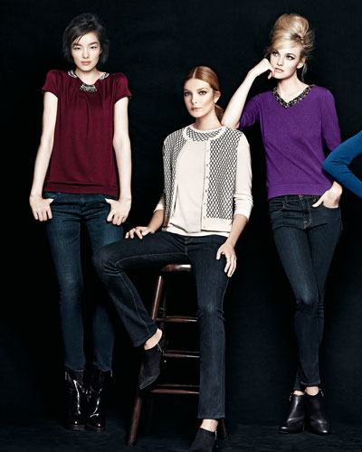 Magaschoni Jeweled-Neck Sweater, Cashmere Top & Cardigan, and V-Neck Sweater