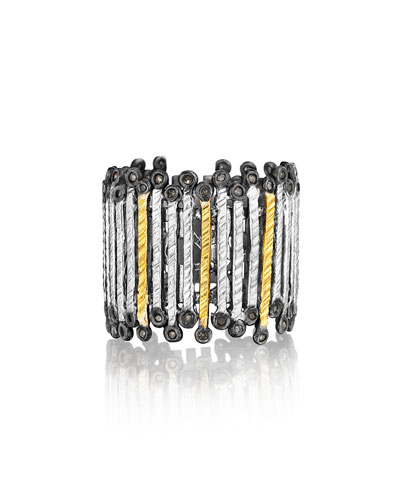 COOMI Spring Tricolor Gold & Silver Band Ring