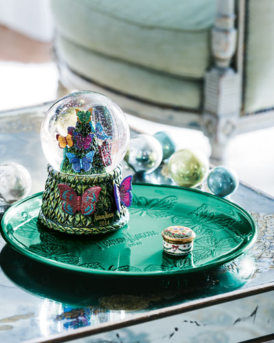 NM EXCLUSIVE 2014 Snowglobe, Holiday Platter, and Halcyon Days Christmas Box