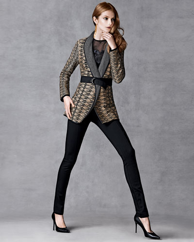 NIC+ZOE Jazz Age Jacket, Lace Glow Tank, & Perfect Ponte Slim Pants