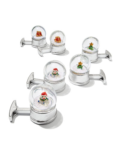 Cufflinks Inc. Snow Globe Cufflinks