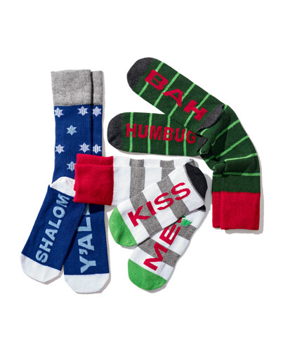 Arthur George by Robert Kardashian Men's Holiday Socks
