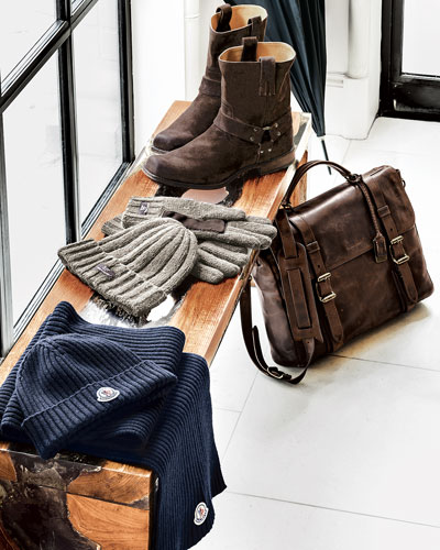 Frye Frye Briefcase & Boot, UGG Australia Hat & Gloves Set, & Moncler Scarves & Skull Caps