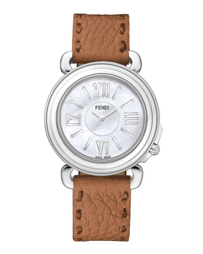 37mm Selleria Stainless Steel Watch Head & Leather Strap