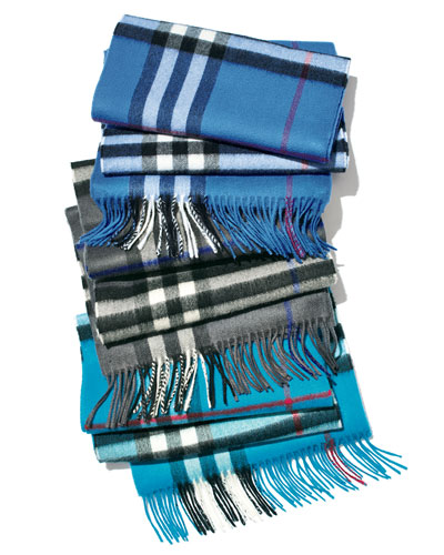 Burberry Men's Giant-Check Cashmere Scarves