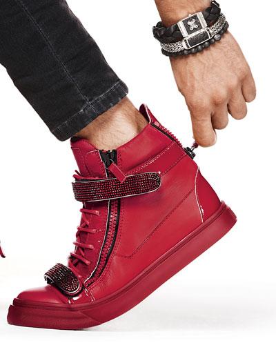 John Hardy Bracelets & Giuseppe Zanotti Crystal-Strap High-Top Sneaker