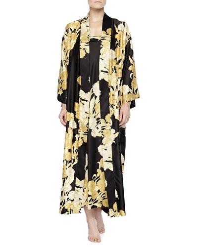 Natori Irina Floral-Print Long Gown