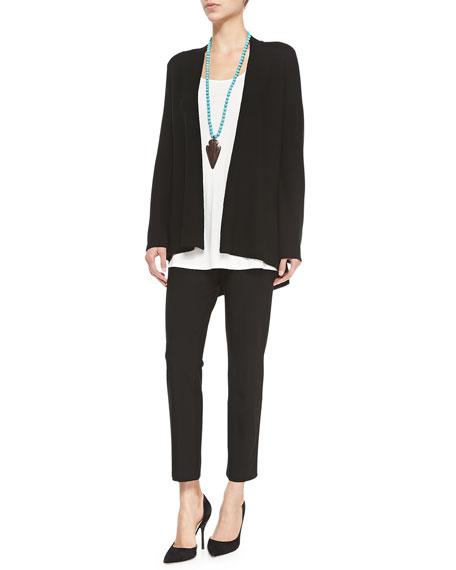 Eileen FisherLong Silk Jersey Tunic, Soft White