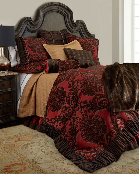 Queen Masquerade Damask Duvet Cover