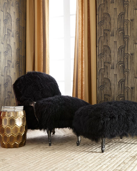 Worthen Noir Sheepskin Chair