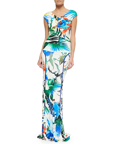 Alize-Print Stretch-Knit Top & Jersey Maxi Skirt