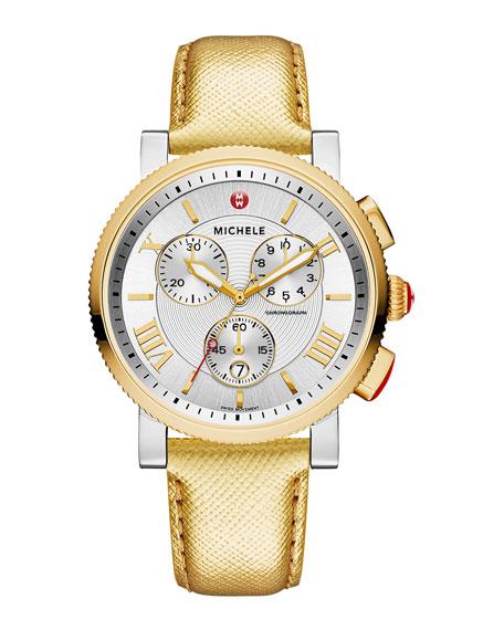 MICHELE 20mm Sport Sail Two-Tone Watch Head