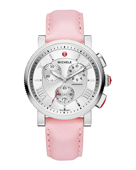 MICHELE 20mm Sport Sail Stainless Steel Watch Head,