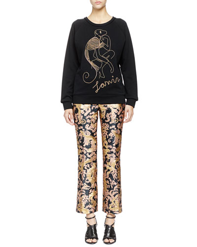 Chain Monkey Sweatshirt & Golden Monkey Brocade Pants