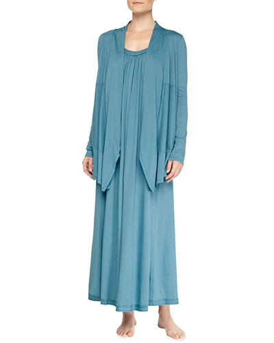 Pima Cotton Cozy & Long Nightgown