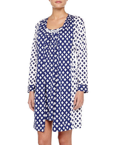 Ocean Breeze Pima Cotton Short Robe & Chemise