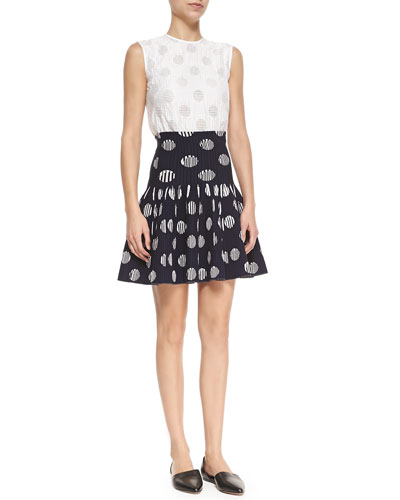 Sleeveless Polka Dot Top & Flip Polka Dot Skirt