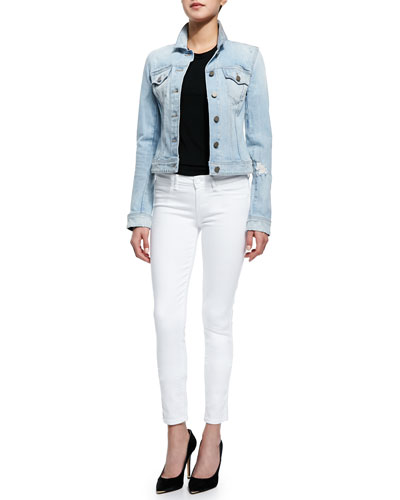 Vermont Distressed Denim Jacket & Verdugo Cropped Skinny-Fit Jeans