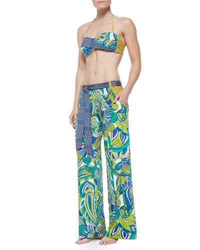 Amazonia Twisted Printed Bandeau Top, Bottom & Wide-Leg Pants