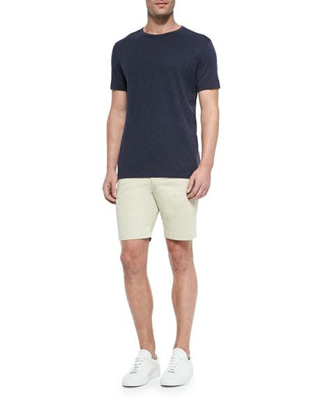 Theory Slub Crewneck Short-Sleeve T-Shirt, Navy