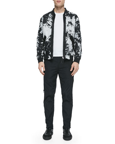 Reversible Tie-Dye Bomber Jacket & Side-Zip Track Pants