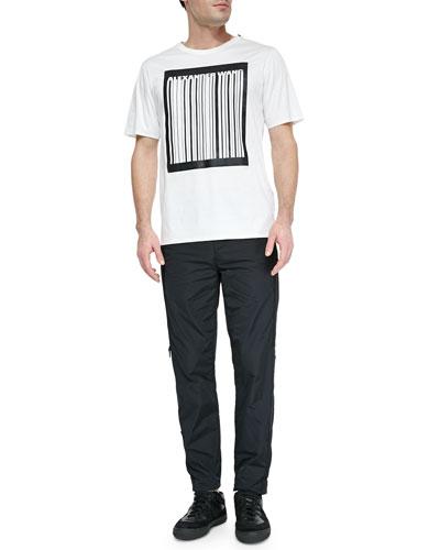 Bonded Barcode Logo Tee Shirt & Side-Zip Track Pants
