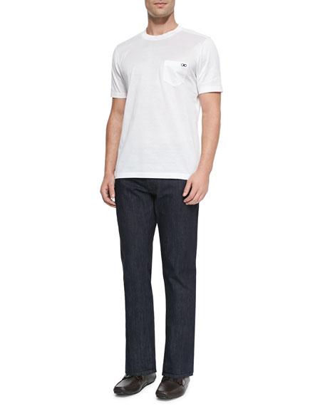 Salvatore Ferragamo Dark-Wash 5-Pocket Jeans