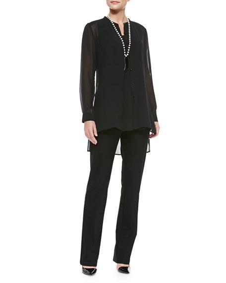 Eileen Fisher Long Silk Jersey Tunic, Petite