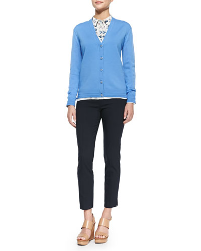 Tory Burch Madison V-Neck Button-Front Cardigan, Pamela