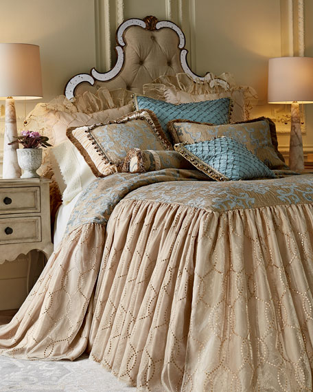 King Grace Damask Sham with Fringe