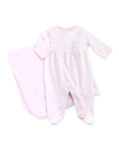 Classic Baby Distinct Footie & Blanket, Pink