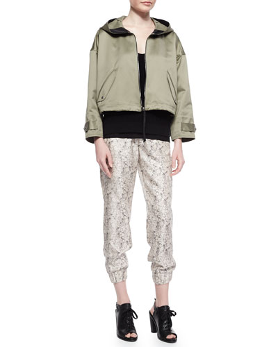 Rag & Bone Randi Cropped Shimmery Cotton Jacket,