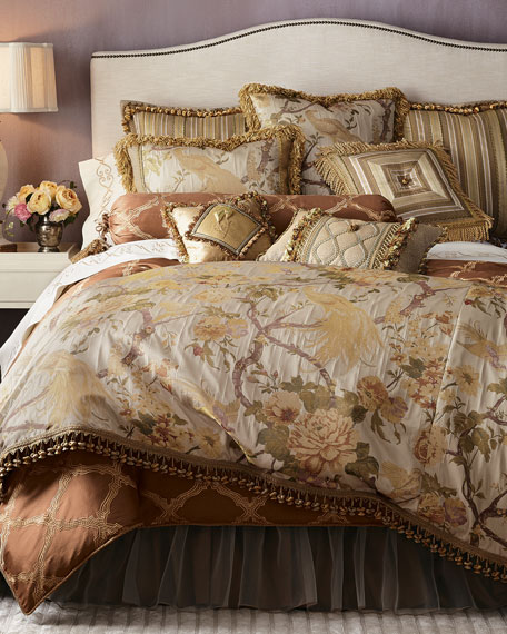 King Pheasant Duvet Cover with Onion Trim