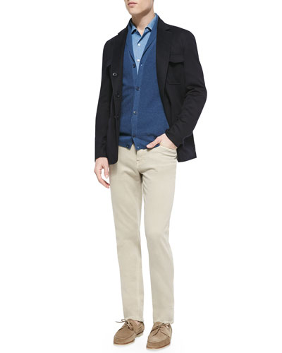 Cashmere Notched-Collar Sport Coat, Andre Denim Button-Down Shirt, Shawl-Collar Button-Front Cardigan & 5-Pocket Denim Jeans