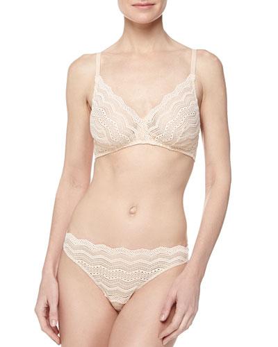 Ceylon Lace Soft Bra & Chevron-Pattern Lace Thong