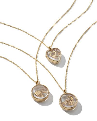Love Charm Locket Necklace, Hope Charm Locket Necklace and Happiness Charm Locket Necklace